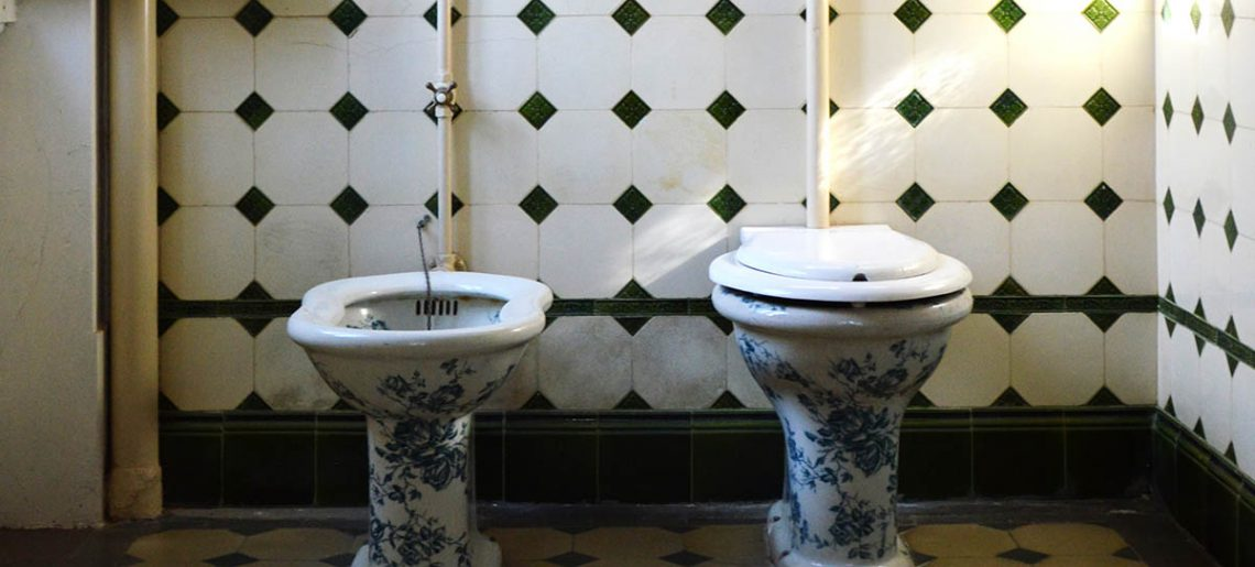 Klein ongemak: Het open toilethokje